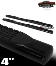 """FOR 2004-2008 FORD F150 CREW CAB 4"""" OVAL BLACK SIDE STEP NERF BARS running board"""