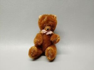 Antique miniature mini teddy bear dark brown jointed mohair