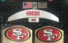 San Francisco 49ers Football Helmet Decal Bumper Set - with Stripes, Bumpers.etc