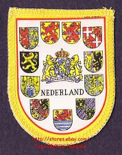 LMH PATCH Woven Badge  NEDERLAND  Various Coat Arms  NETHERLANDS  Dutch Lion yl