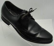 FLORSHEIM Mens Size 10B Black Leather Apron Toe Lace-Up Oxford Dress Shoes