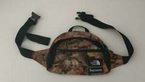 FW16 Supreme x The North Face Roo II lumbar pack waist shoulder bag leaves