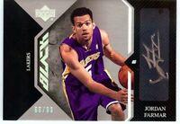 Jordan Farmar 2006-07 UD Black Rookie Auto Autograph LA Lakers #AR-JF 66/99