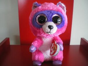 Ty Beanie Boos ROXIE racoon 6 inch NWMT.  JUST ARRIVED – IN STOCK NOW