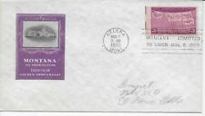 US Scott #858, First Day Cover 11/8/39 Helena Single Montana