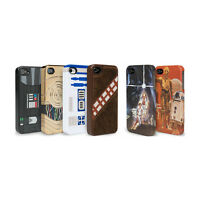 Phone Case with Star Wars Design Fits iPhone 4 4S Chewbacca C-3PO R2-D2 Droids