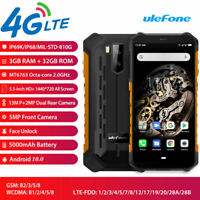 4G Armor X5 Rugged Smartphone Android 9.0 Octa Core Waterproof IP68 NFC Phone