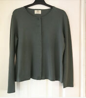 Spirit Of The Andes Jersey Cardigan Khaki 100% Pima Cotton Button Front Size M