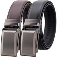 Leisure Men's Cow Leather Belt Automatic Buckle Belt Designer Waist Strap Gift