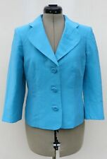 Country Casuals turquoise linen blend occasion jacket,size 10