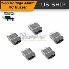 1-8S Li-ion Lipo Battery Low Voltage Meter Tester Buzzer Alarm