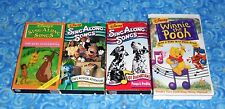 Disney Sing Along Songs 4 VHS Video Tapes w Bare Necessities Excellent Tested