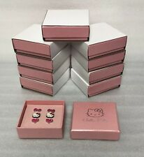 10 SETS OF 3 HELLO KITTY STUD EARRINGS BRANDED BOX GIRLS GOODY BAG PARTY FAVOUR