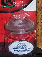 THE WILLY WONKA CANDY FACTORY GLASS VACUUM SEAL CANDY JAR L@@K