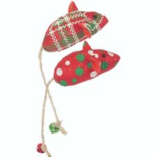 Rosewood Jingling Catnip Mice Toy Festive Christmas Interactive Cat Play Gift