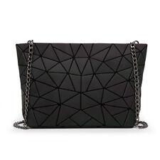 Women Chain Luminous Bag Diamond Geometry Shoulder Bags Plain Folding Messenger