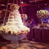 Wedding / Birthday Party Cake Stand Transparent Hanging-style Decoration US Ship