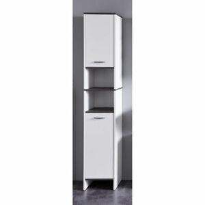 Hochschrank Badezimmerschrank Badschrank  California SanDiego Weiß 32x180x28cm