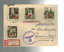 1940 Krakow Poland Germany  Cover Waffen SS 1st Totenkopf Regiment Feldpost