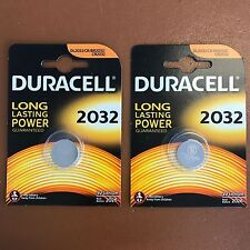 2 X Duracell CR2032 3V Lithium Button Battery Coin Cell DL/CR 2032 Expiry 2027