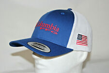 Columbia Pfg White/blue Mesh Ball Cap USA Flag Snap Back Adult One Size