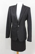 Ralph Lauren Black Label 2 Piece Skirt Jacket Gray Pinstripe Suit Womens 8 $1500