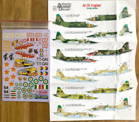 Authentic Decals Su-25 Frogfoot Foreign Service 1/48 (#48-47) !!! RARE !!!