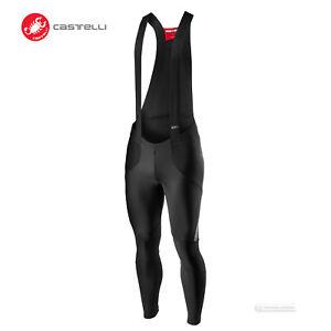 NEW 2021 Castelli SORPASSO RoS Thermal Winter Cycling Bib Tights : BLACK/REFLEX