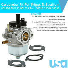 801396 Carburetor Fit For Briggs & Stratton 801233 801255 Toro 38518 38584 38538