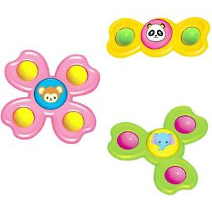 Animal Spinning Top Suction Cup Baby Kids Spinner Gyro Insect Rattles Shower Toy