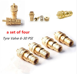 """4PCS Automatic Tire Deflators SCV5 (6-30 PSI) """"The quickest way to air down!"""""""
