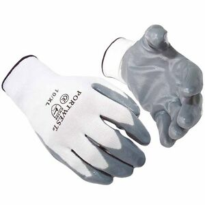 120 Pairs of Portwest A310 Flexo Grip Nitrile Palm Coated Safety Gloves