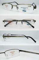 L481 Superb Quality Semi Rimless Metal Reading Glasses/Spring Hinges/Lattice Arm