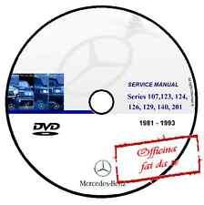 CD WERKSTATTHANDBUCH MERCEDES W107 W123 W124 W126 W129 W140 W201 1981 1993
