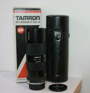Tamron 70-210mm 52A Telephoto Zoom Macro Lens & Olympus OM Adapter OM10,OM1, OM2