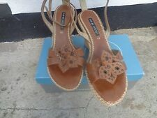 Nine west size 40 genuine leather wedge sandals NEXT TO NEW!!!