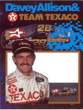 1990 Davey Allison Texaco Ford Thunderbird NASCAR Winston Cup postcard
