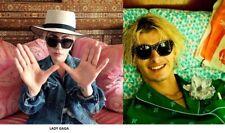 Celebrity Style Cat Eye Stud Lady Gaga Sunglasses Black Gold Designer