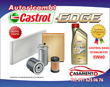 KIT TAGLIANDO OLIO MOTORE CASTROL EDGE 5W40 4LT+4 FILTRI VW GOLF V 1.9 TDI