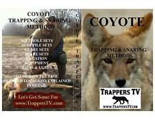 "Coyote Trapping & Snaring Dvd-""Coyote Basics"" Easy To Understand-Learn To Trap"