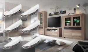 LED Clip Glasbodenbeleuchtung Aktuelles Design 6er Set Edelstahl Warmweiß