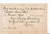 Genealogy Postcard - Family History - Chreshan? - James Bell & Co - Malta 140A