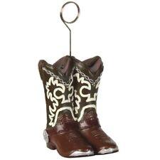 Western Cowboy Boots Photo Holder Balloon Weight