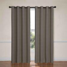 "Eclipse Derby Fashion Grommet Blackout Window Curtain Panel 40""x84"" Gray"