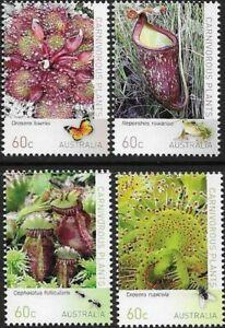 MUH Carnivorous Plant 2013 Australian Stamp Set