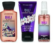 Bath Body Works BALI BLACK COCONUT SANDS Shower Gel Cream Mist 3 PC GIFT SET