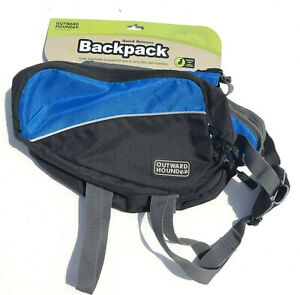 QUICK RELEASE DOG BACKPACK SMALL BLUE NWT KYJEN Outward Hound HIKING, TRAVEL