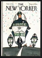 New Yorker magazine COVER ONLY  September 23 1972-Saxon-Motorcycle police cops