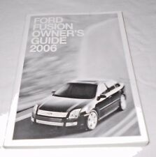 2006 FORD FUSION OWNER'S GUIDE / MANUAL /  VERY GOOD USED CONDITION  /  FREE S/H