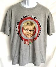 Men's A Christmas Story Holiday Gray T-Shirt You'll Shoot Your Eye Out Size L